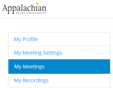 my meetings link in zoom
